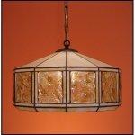 Lampa żyrandol zwis witraż MIÓD 40cm