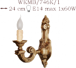 Kinkiet mosiężny JBT Stylowe Lampy WKMB/746K/1