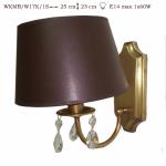 Kinkiet  mosiężny JBT Stylowe Lampy WKMB/W17K/1 S