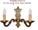 Kinkiet mosiężny JBT Stylowe Lampy WKMB/292K/2