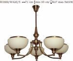 Żyrandol mosiężny JBT Stylowe Lampy WZMB/W42Z/5