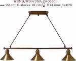 Żyrandol mosiężny JBT Stylowe Lampy WZMB/W34/3MA/340330