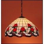 Lampa żyrandol zwis witraż ROSA 50cm