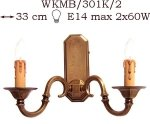 Kinkiet mosiężny JBT Stylowe Lampy WKMB/301K/2