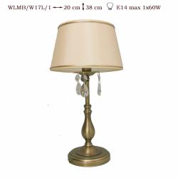 Lampka  mosiężna JBT Stylowe Lampy WLMB/W17L/1