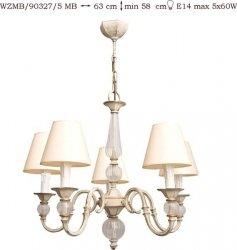 Żyrandol mosiężny JBT Stylowe Lampy WZMB/90327/5MB