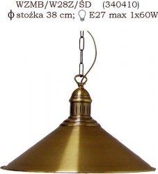 Żyrandol mosiężny JBT Stylowe Lampy WZMB/W28Z/ŚD(CBW340410)