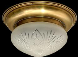 Plafon mosiężny JBT Stylowe Lampy WPMB/S/GŁ