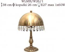Lampka mosiężna JBT Stylowe Lampy WLMB/W26/1