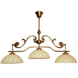 Żyrandol mosiężny JBT Stylowe Lampy WZMB/W57/3