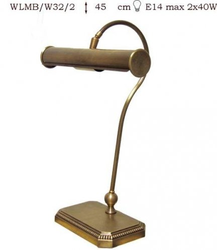 Lampka mosiężna JBT Stylowe Lampy WLMB/W32/2
