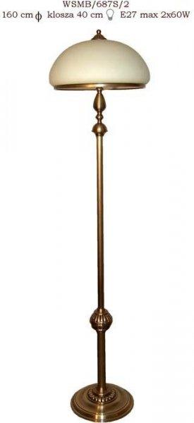Lampa stojąca mosiężna JBT Stylowe Lampy WSMB/687S/2