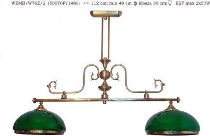 Żyrandol mosiężny JBT Stylowe Lampy WZMB/W76Z/2
