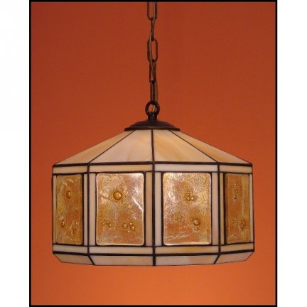 Lampa żyrandol zwis witraż MIÓD 30cm