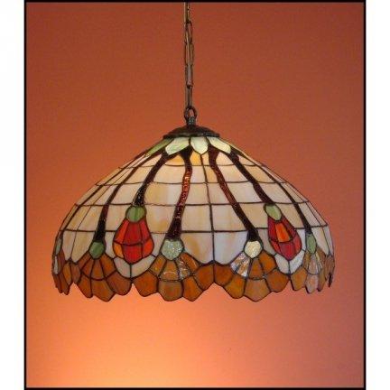 Lampa żyrandol zwis witraż AKSAMIT 40cm