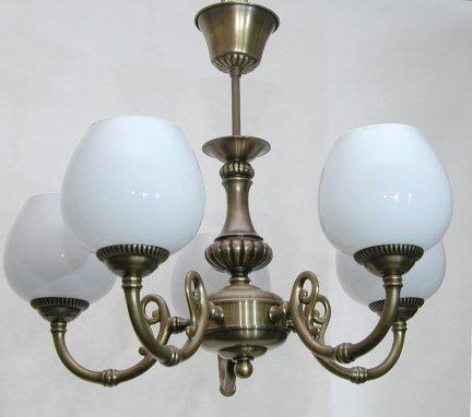 Żyrandol mosiężny JBT Stylowe Lampy WZMB/W60Z/5