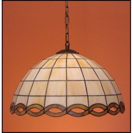 Lampa żyrandol zwis witraż WARKOCZ 40cm