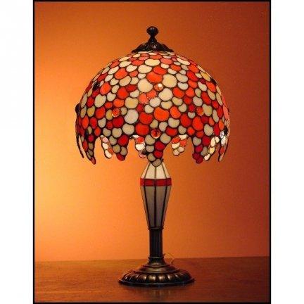 Lampka witrażowa nocna biurkowa KROPLA H-48 cm