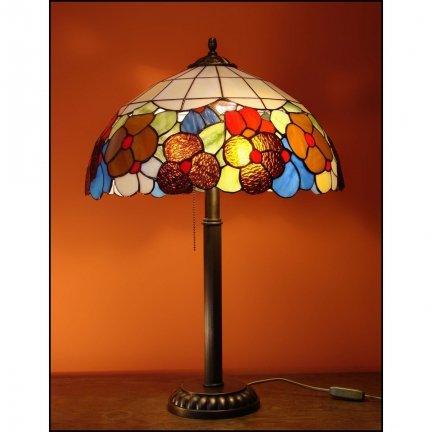 Lampka witrażowa nocna biurkowa WIOSNA H-48cm