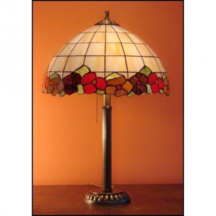Lampka witrażowa lampa nocna biurkowa BRATKI H-60cm