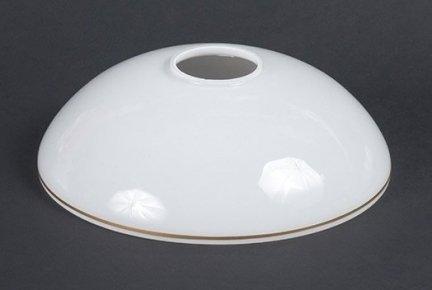 Klosz szklany złoty pasek E27 lampa żyrandol