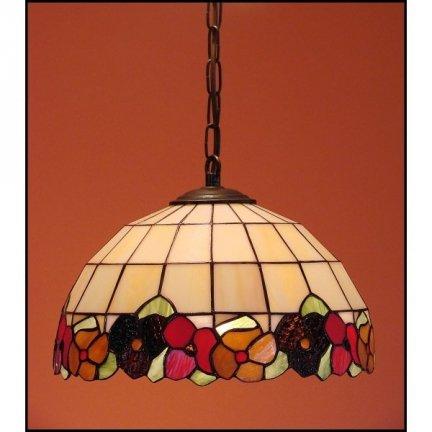 Lampa żyrandol zwis witraż  BRATKI 40cm