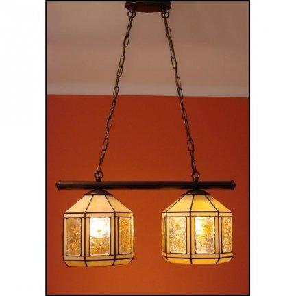 Lampa żyrandol zwis witraż MIÓD