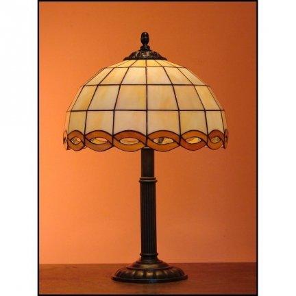 Lampka witrażowa nocna biurkowa WARKOCZ H-48 cm