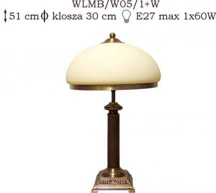 Lampka mosiężna JBT Stylowe Lampy  WLMB/W05/1+W