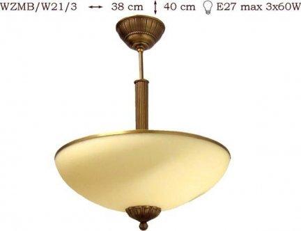 Żyrandol mosiężny JBT Stylowe Lampy WZMB/W21/3