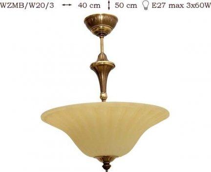 Żyrandol mosiężny JBT Stylowe Lampy WZMB/W20/3
