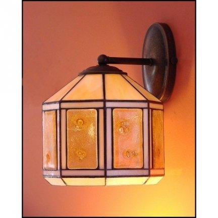 Lampa ścienna kinkiet witraż MIÓD 20cm