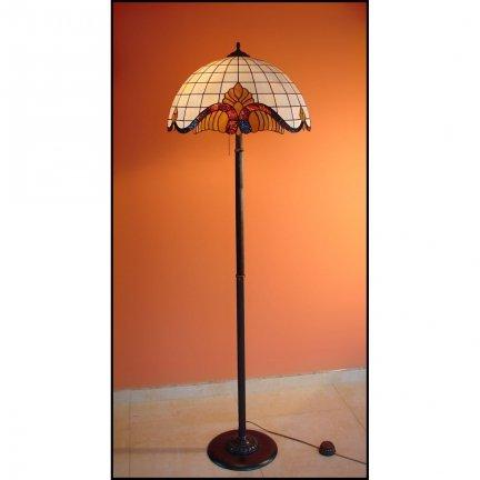 Lampa witrażowa podłogowa stojąca Classic
