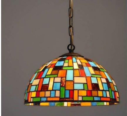 Lampa żyrandol zwis witraż MOZA 30cm