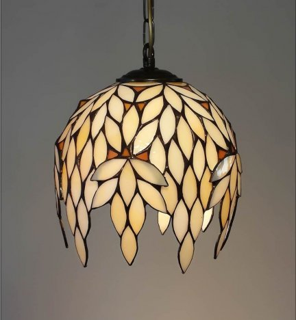 Lampa żyrandol zwis witraż Niagara 22cm