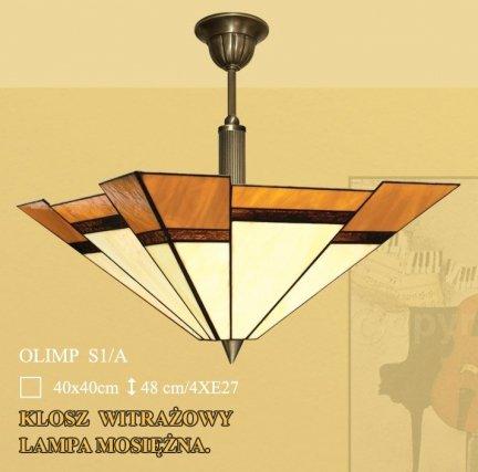 Lampa żyrandol zwis witraż OLIMP S1/A