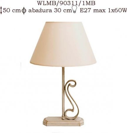 Lampka mosiężna JBT Stylowe Lampy WLMB/90311/1MB