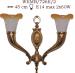Kinkiet mosiężny JBT Stylowe Lampy WKMB/726K/2