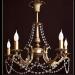 Żyrandol mosiężny JBT Stylowe Lampy WZMB/W79/5PB