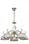 Lindgard - lampa wisząca 5 płomienna patyna 108705-04