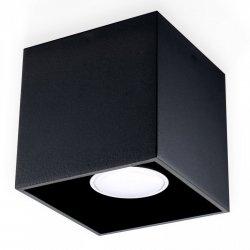 Plafon QUAD 1 Czarny SL.0022 Sollux