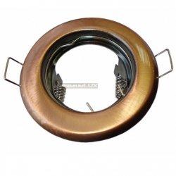 Oprawa halogenowa sufitowa ALFA okrągła stała stare złoto LUX01245