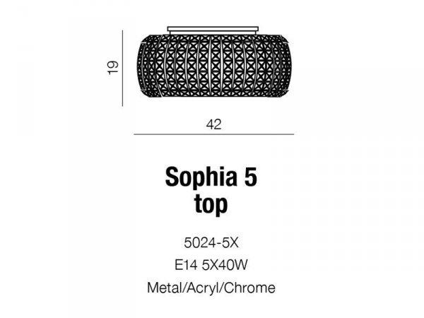 Plafon Sophia 5 Top AZzardo 5024-5X