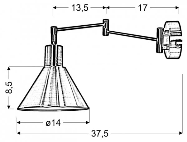 COPENHAGEN LAMPA KINKIET 1X40W E14 PATYNA 21-41210 Candellux