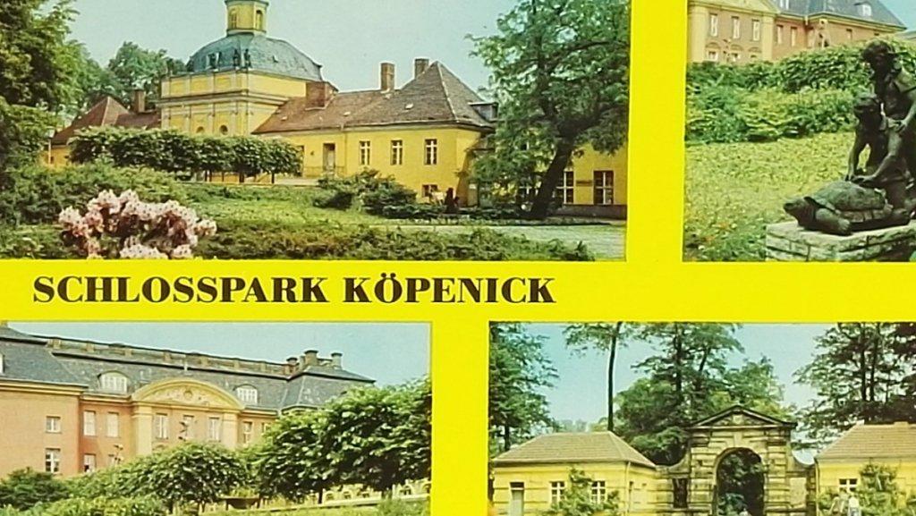 SCHLOSSPARK KOPENICK. BERLIN - HAUPTSTADT DER DDR