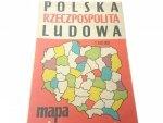 POLSKA RZECZPOSPOLITA LUDOWA. MAPA ADM. 1975