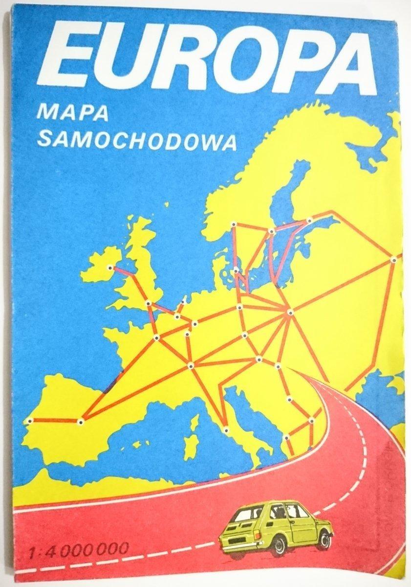 Europa Mapa Samochodowa Mapy Atlasy Plany Miast Mapy
