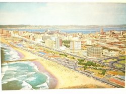 DURBAN'S BEACHFRONT LAPPED BY THE WATERS