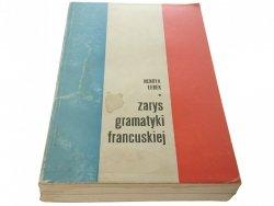 ZARYS GRAMATYKI FRANCUSKIEJ - Henryk Łebek 1977