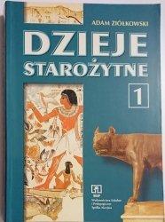 DZIEJE STAROŻYTNE KLASA 1 PODRĘCZNIK - Ziółkowski 1999
